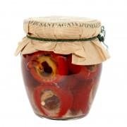 Peperoncini farciti acciughe e olive 180gr