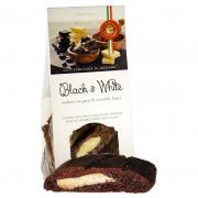 Cantucci black & white al cacao e pezzi cioccolato bianco 200gr