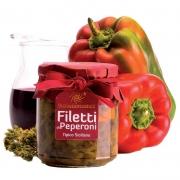 Filetti di peperoni in olio 270gr