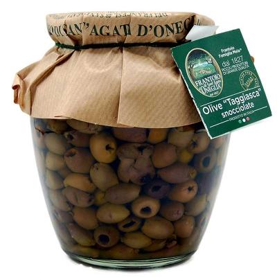 Olive taggiasche snocciolate in olio extravergine 270gr