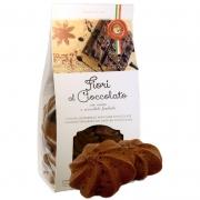 Fiori al cioccolato frollino al burro e scaglie 200gr
