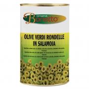 Olive verdi a rondelle